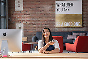 Photography ©Mara Lavitt<br /> September 14, 2018<br /> <br /> Yale graduate and entrepreneur Ellen Su in the District Co-working space, New Haven.