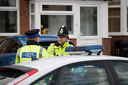 © Licensed to London News Pictures . 17/01/2015 . Stockport , UK . Police guard 28 Meadway Road , Cheadle Hulme , Stockport this afternoon (Saturday 17th January 2015 ) after a woman and a man - named as magistrate Yvonne Davies and her husband Andrew - were found dead inside after an apparent murder-suicide last night (16th January 2015) .  Photo credit : Joel Goodman/LNP