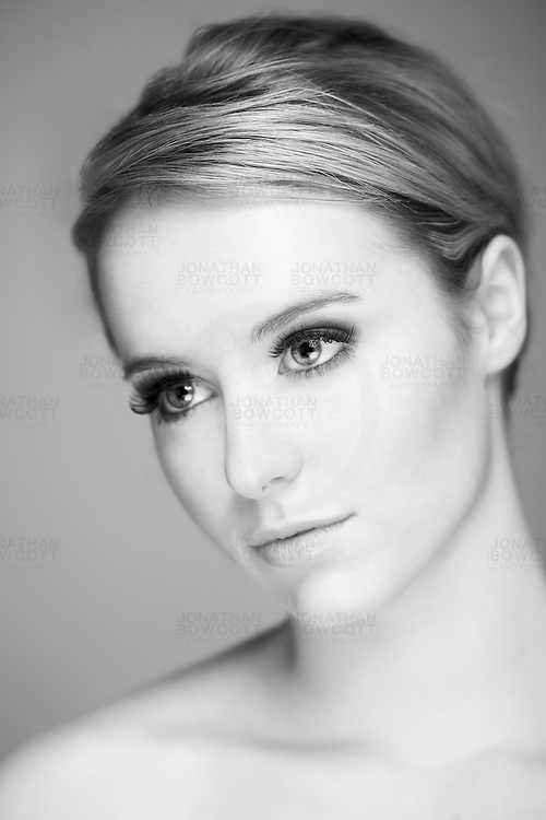 A smoky eyes beauty shot by Bristol photographer Jonathan Bowcott