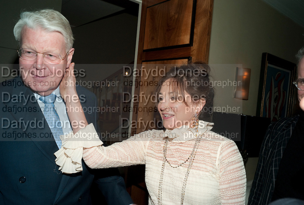 DORIT MOUSAIEFF and the President of Iceland OLAFUR RAGNAR GRIMSSON., Dinner hosted by Denise Estfandi, for the Council of the Serpentine Gallery to celebrate the opening of  Nancy Spero at the Serpentine Gallery. London.  Upper Brook house. 10a upper brook st.1 March 2011. -DO NOT ARCHIVE-© Copyright Photograph by Dafydd Jones. 248 Clapham Rd. London SW9 0PZ. Tel 0207 820 0771. www.dafjones.com.