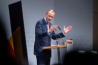 30 NOV 2018, BERLIN/GERMANY:<br /> Friedrich Merz, CDU, Rechtanwalt und ehem. stellv. CDU/CSU Fraktionsvorsitzender, haelt eine Rede, waehrend der Regionalkonferenz der CDU zur Vorstellung der Kandidaten fuer das Amt des Bundesvorsitzenden der CDU, Estrell Convention Center<br /> IMAGE: 20181130-01-022
