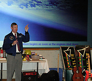 Former Astronaut Mark Brown gave a talk about his experiences in space during the 5th Annual TechFest at Sinclair Community College, Saturday afternoon.