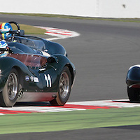 #11, Lister Jaguar Knobbly (2013), Hans Hubner (D), Silverstone Classic 2015, Stirling Moss Trophy for Pre '61 Sports Cars. 25.07.2015. Silverstone, England, U.K.  Silverstone Classic 2015.
