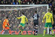 Norwich City midfielder Nelson Oliveira celebrates his second goal during  the EFL Sky Bet Championship match between Norwich City and Derby County at Carrow Road, Norwich, England on 2 January 2017. Photo by Nigel Cole.