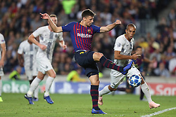 October 24, 2018 - Barcelona, Spain - Barcelona, Spain, October 24, 2018: Clement Lenglet of FC Barcelona in action during the UEFA Champions League, Group B football match between FC Barcelona and FC Internazionale on October 24, 2018 at Camp Nou stadium in Barcelona, Spain (Credit Image: © Manuel Blondeau via ZUMA Wire)