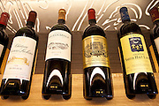 Fine wines Chateau Prieure Lichine, Chateau Smith Haut Lafite, Chateau Rauzan-Segla and Alter Ego at Vignobles et Chateaux wine merchant in St Emilion, Bordeaux, France