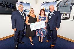 The Dream A Way Charity receives their cheque - Ryan Hiscott/JMP - 06/08/2018 - RUGBY - Sandy Park - Exeter, England - Exeter Chiefs Season Launch Dinner
