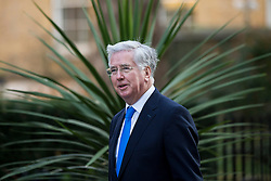 © Licensed to London News Pictures. 23/02/2016. London, UK. Defence Secretary MICHAEL FALLON arrives at number 10 Downing Street in Westminster, London for cabinet meeting. Photo credit: Ben Cawthra/LNP