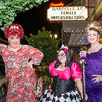 Female impersonators Wayne Chamberlain AKA Celeste Towers AKA Miss Gay Portland XLI, left, and Allen Cole AKA Cheralyn Michaels AKA Miss Gay Oregon XLII, right, pose with Jennifer Dee Martin AKA Sunshine Ray MacPherson AKA Ms. Gay Oregon XX, center, outside CC Slaughter's nightclub in Portland. 12:42am