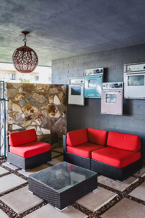 Outdoor lounge at the Shorewood apartment complex, Phoenix, Arizona
