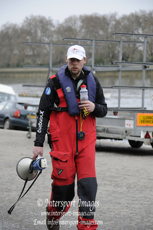 Putney. London. Tideway Week build up to the   2011 University Boat Race over parts of the Championship Course - Putney to Mortlake. Steve TRAPMORE, Head Coach, Cambridge, CUBC. Tuesday 22/03/2011  [Mandatory Credit; Karon Phillips/Intersport-images] 2011 Tideway Week