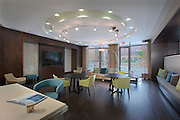 Architectural Interior of Post Carlyle Square Apartments Community Center by Jeffrey Sauers of Commercial Photographics