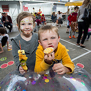 14.06.2018.             <br /> Limerick Food Group hosted the Urban Food Fest street food evening in the Milk Market on Thursday June 14th with a 'Summer Fiesta' theme in one big Limerick city summer party.<br /> <br /> Pictured at the event were, Eden O'Brien and Archie O'Sullivan. Picture: Alan Place