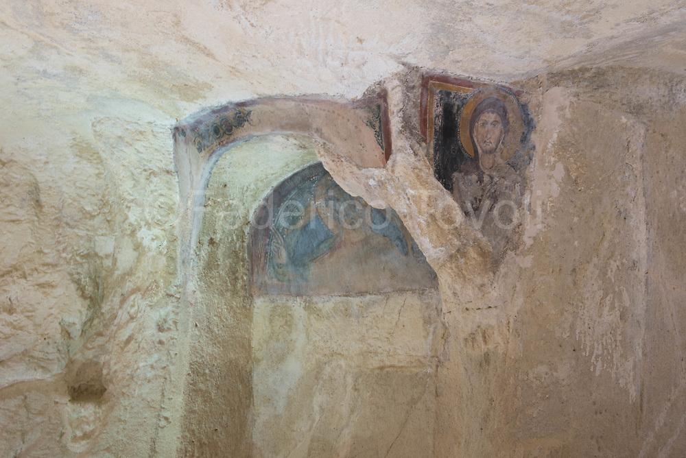 Rupestrian paintings in the church of Santa Maria Idris