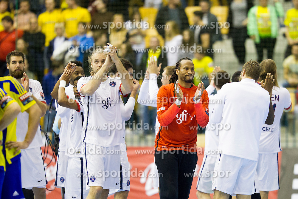 Players of Paris Saint-Germain after handball match between RK Celje Pivovarna Lasko (SLO) and Paris Saint-Germain (FRA) in Round #5 of Group Phase of EHF Champions League 2015/16, on October 18, 2015 in Arena Zlatorog, Celje, Slovenia. Photo by Urban Urbanc / Sportida