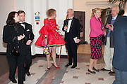 IAN PALMER; MONIQUE PALMER; GRAYSON PERRY; CHARLES SAUMERAZ SMITH; INGEBORG SCOTT; SIR PHILIP DOWSON,, Royal Academy Schools Annual dinner and Auction 2012. Royal Academy. Burlington Gdns. London. 20 ,March 2012.