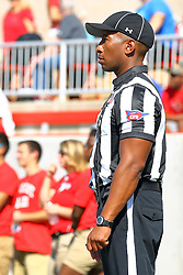17 September 2016: SIDE JUDGE<br /> Kendal Smith.  NCAA FCS Football game between Eastern Illinois Panthers and Illinois State Redbirds for the 105th Mid-America Classic on Family Dat at Hancock Stadium in Normal IL (Photo by Alan Look)