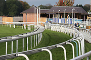 The empty horse chute prior to the York Coral Sprint Trophy meeting at York Racecourse, York, United Kingdom on 12 October 2019.