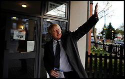London Mayor Boris Johnson during the Mayoral Campaign, London, UK, April 17, 2012. Photo By Andrew Parsons / i-Images.