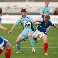 Cowdenbeath v St Johnstone.....10.07.13      Pre-Season Friendly<br /> Tom Scobbie and Mark McKenzie<br /> Picture by Graeme Hart.<br /> Copyright Perthshire Picture Agency<br /> Tel: 01738 623350  Mobile: 07990 594431
