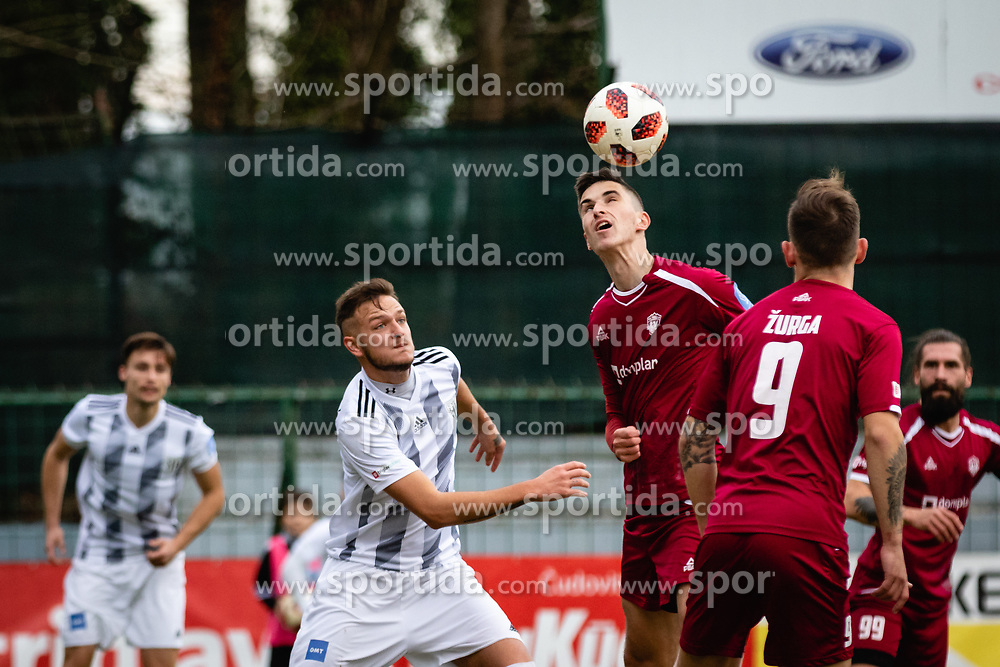 Aleksandar Boskovic of NS Mura and Tom Zurga of NK Triglav Kranj during football match between NŠ Mura and NK Triglav in 19th Round of Prva liga Telekom Slovenije 2018/19, on December 9, 2018 in Fazanerija, Murska Sobota, Slovenia. Photo by Blaž Weindorfer / Sportida