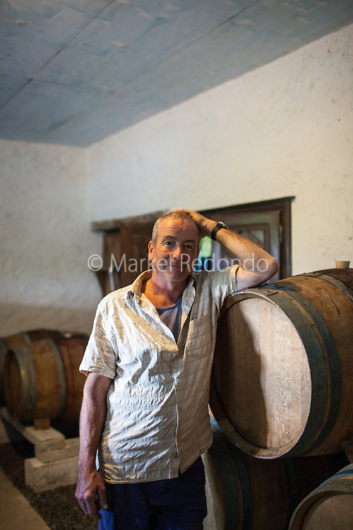 Peio Espil at the winery at Domaine Ilarria in Irouleguy.