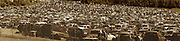 Americana, Panoramic photograph of auto graveyard, central PA