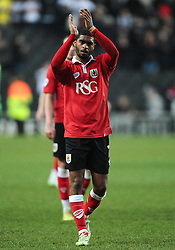 Bristol City's Mark Little  - Photo mandatory by-line: Joe Meredith/JMP - Mobile: 07966 386802 - 07/02/2015 - SPORT - Football - Milton Keynes - Stadium MK - MK Dons v Bristol City - Sky Bet League One