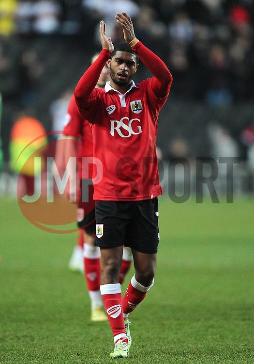 Bristol City's Mark Little  - Photo mandatory by-line: Joe Meredith/JMP - Mobile: 07966 386802 - 07/02/2015 - SPORT - Football - Milton Keynes - Stadium MK - MK Dons v Bristol City - Sky Bet League One