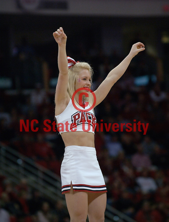 Cheerleaders cheer on the Wolfpack during their game against Boston College. Photo by Marc Hall