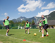 Dundee&rsquo;s Rory Loy, Kane Hemmings and  James Vincent  - Day 3 of Dundee FC pre-season training camp in Obertraun, Austria<br /> <br />  - &copy; David Young - www.davidyoungphoto.co.uk - email: davidyoungphoto@gmail.com