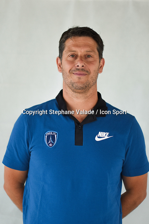 Fabien Mercadal during photoshooting of Paris FC for new season 2017/2018 on October 17, 2017 in Paris, France<br /> Photo : Stephane Valade / Icon Sport