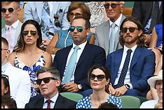 Celebrities Attend Wimbledon 7 july 2018