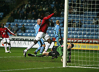Photo: Rich Eaton.<br /> <br /> Coventry City v Bristol City. The FA Cup. 16/01/2007. Enoch Showunmi of Bristol scores the second goal of the game to put Bristol 2-0 up in the second half past Luke Steele the keeper