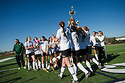 The Hockaday School team celebrates after defeating Greenhill 1-0 in the SPC Division I girls soccer championship game at Episcopal School of Dallas on Saturday, February 16, 2013 in Dallas, Texas. (Cooper Neill/The Dallas Morning News)