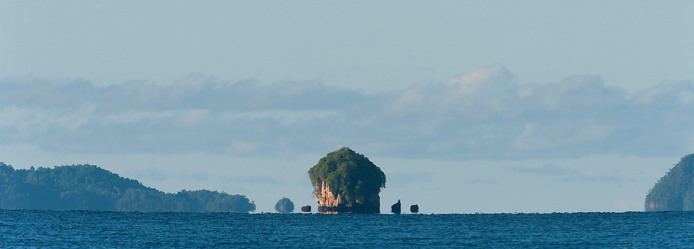 Bird islands appear as a mirage, Triton Bay, Papua