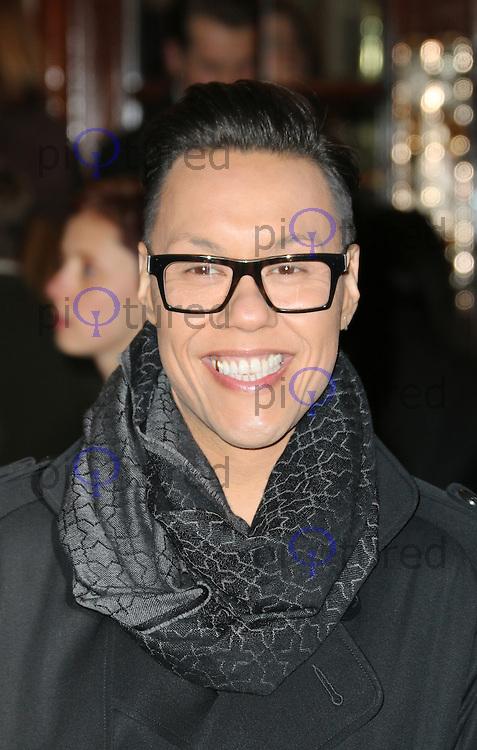 Gok Wan, I Can't Sing! The X Factor Musical - press night, London Palladium, London UK, 26 March 2014, Photo by Richard Goldschmidt