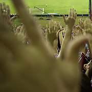 Fluminense fans support their side with load singing during the Fluminense V  Palmeiras, Futebol Brasileirao  League match at the Jornalista Mário Filho Maracana Stadium, The match ended in a 1-1 draw, Rio de Janeiro,  Brazil. 1st September 2010. Photo Tim Clayton.