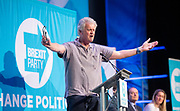 Brexit Party event<br /> Nigel Farage and Ann Widdecombe in Peterborough for a rally with the Brexit Party&rsquo;s Eastern region European election candidates. <br /> at King's Gate Conference Centre, Peterborough, Great Britain <br /> 7th May 2019 <br /> <br /> Tim Martin <br /> Businessman / Wetherspoons owner <br /> Speaks <br /> <br /> Photograph by Elliott Franks