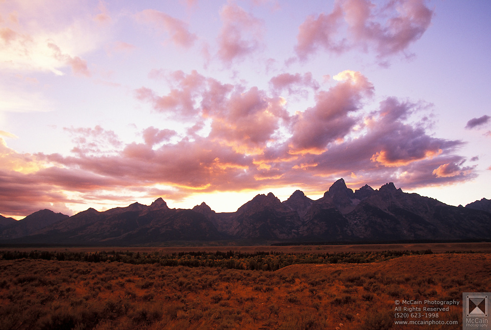 Sunset after storm, Grand Teton National Park, near Moose, Wyoming. ..Subject photograph(s) are copyright Edward McCain. All rights are reserved except those specifically granted by Edward McCain in writing prior to publication...McCain Photography.211 S 4th Avenue.Tucson, AZ 85701-2103.(520) 623-1998.mobile: (520) 990-0999.fax: (520) 623-1190.http://www.mccainphoto.com.edward@mccainphoto.com