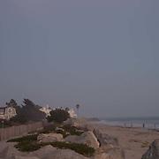 Moonrise on the beach of Carpinteria, CA.