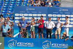 Devos Pieter, BEL, Espoir, Poels Caroline, NED, Weinberg Peter, GER<br /> World Equestrian Games - Tryon 2018<br /> © Hippo Foto - Dirk Caremans<br /> 19/09/2018
