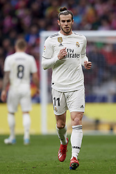 February 9, 2019 - Madrid, Madrid, Spain - Gareth Bale of Real Madrid celebrates after scoring his sides first goalduring the week 23 of La Liga between Atletico Madrid and Real Madrid at Wanda Metropolitano stadium on February 09 2019, in Madrid, Spain. (Credit Image: © Jose Breton/NurPhoto via ZUMA Press)