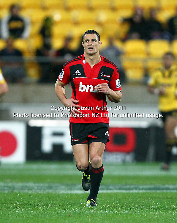 Dan Cater.Super15 rugby union match - Crusaders v Hurricanes at Westpac Stadium, Wellington, New Zealand on Saturday, 18 June 2011. Photo: Justin Arthur / photosport.co.nz