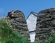 Rustic, stone gate to an Irish farmhouse, Conty Donegal, Ireland