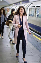 © Licensed to London News Pictures. 02/09/2015. London, UK. Liz Kendall campaigning in Wood Green with Stephen Mann who is standing in the Noel Park Ward local by-election. Photo credit : James Gourley/LNP