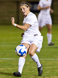Virginia Cavaliers midfielder/defender Alli Fries (8) in action against Army.  The #16 ranked Virginia Cavaliers defeated the Army Black Knights 2-0 in the first round of NCAA Division 1 Women's Soccer Tournament at Klockner Stadium on the Grounds of the University of Virginia in Charlottesville, VA on November 14, 2008.