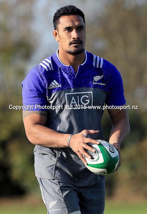 New Zealand All Blacks Squad Training, Westmanstown, Dublin 15/11/2016<br /> Jerome Kaino<br /> Photo: &copy;INPHO/Donall Farmer / www.photosport.nz