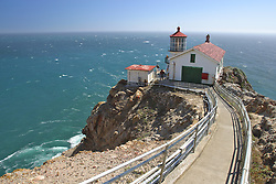 The lighthouse at Point Reyes, north of San Francisco, California, sits at the bottom of over 300 stairs.