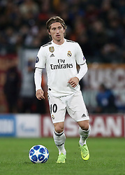 November 27, 2018 - Rome, Italy - AS Roma v FC Real Madrid : UEFA Champions League Group G.Luka Modric of Real Madrid at Olimpico Stadium in Rome, Italy on November 27, 2018. (Credit Image: © Matteo Ciambelli/NurPhoto via ZUMA Press)